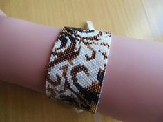 Tejer pulsera oro/Pearly peyote