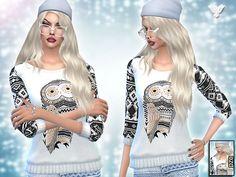 Inspiration Winter Aztec Set by Pinkzombiecupcakes at TSR • Sims 4 Updates