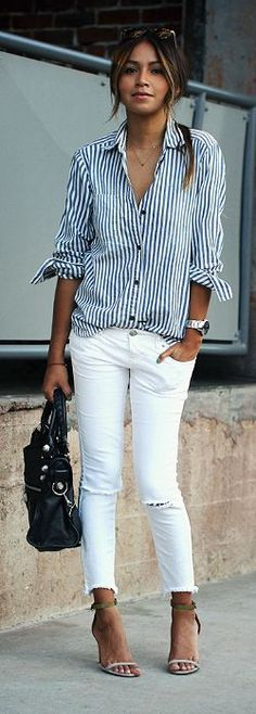 cropped + white + stripes.