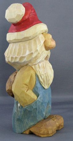 gnome elf Christmas Santa woodcarving. Nordic by cjsolberg on Etsy