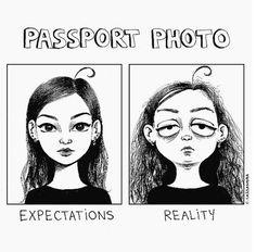 Foto 4 / 14 : Passfotos: Erwartungen vs. Realität