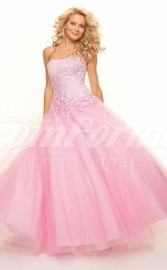 Candy Pink Strench Tulle Sweetheart Lace-up Ball Gown Appliques Quincenera Dresses(PRJT04-0259)