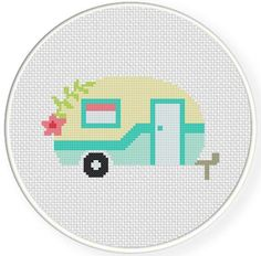 (10) Name: 'Embroidery : Cute Camper Cross Stitch Pattern
