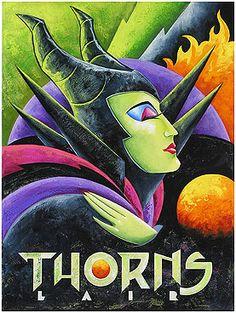 """Thorns Lair"" by Mike Kungl - Original Artwork on Canvas, 24x18.  #Disney #Maleficent #SleepingBeauty #DisneyFineArt #MikeKungl"