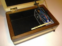 Lucas Fragomeni built a puzzle box that can only be opened if a specific morse code sequence is entered. His starting point was a Reverse Geocache Puzzle h