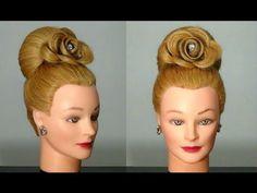 """Прическа """"Бабетта"""" с розой, цветок из волос. Hair made rose."""