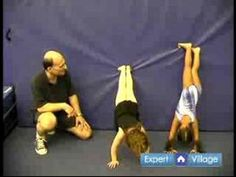 How to Teach Preschool Gymnastics : Handstand Exercise for Preschool Gymnastics