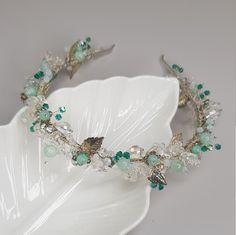 Bridal Hair Vine, Bridal Tiara, Bridal Headpieces, Cute Jewelry, Hair Jewelry, Bridal Jewelry, Wedding Hair Accessories, Jewelry Accessories, Mint Flowers