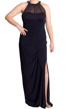Ralph Lauren NEW Sleeveless Mesh Beaded Charcoal #Gown, 12 only $69 (was $160) #RalphLauren #Formal