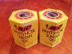Rare Vintage Seventies Bic Pantyhose - New Old Stock - Suntan Average to Tall 1976 Photo Movie Film Prop