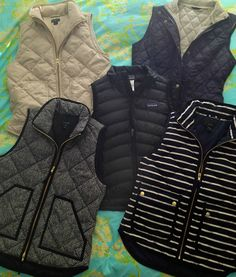 J. Crew vests - want them ALL.
