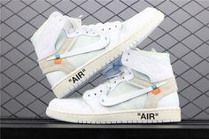 b618cdb6724518 OFF-WHITE x Air Jordan 1 Retro High OG BG  White  2018 AQ8296 100