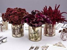 Silver and deep burgundy