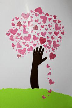 100 days of school celebration - tree of hearts
