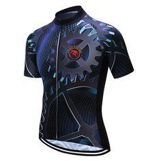 Teleyi Bike Team Men Racing Cycling Jersey Tops Bike Shirt Short Sleeve  Bicycle Clothes quick dry ab0d08b4c