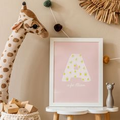 Personalized daisy initial and name for a nursery or playroom. Alphabet Print, Caligraphy, Nursery Prints, Frames On Wall, Kids Bedroom, Playroom, Daisy, Initials, Gallery Wall