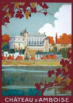 Château d'Amboise - illustration de Géo DORIVAL - 1913 - France -