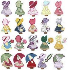 150 applique sunbonnet sue and