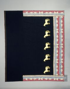 Horse appliques on a wearing blanket