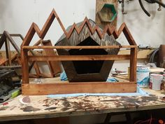 Handmade wine rack by Shea lozinski