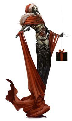 Merry Death Christmas !, Alexandre Chaudret on ArtStation at https://www.artstation.com/artwork/merry-death-christmas