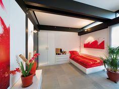 StilArt - Single bedroom, clever built-in furnishing.