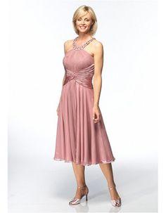 Discount A-Line Tea Length Chiffon Mother of the Bride/ Groom Dresses