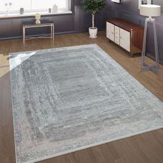 Kurzflor Teppich Marmor Design Grau Weiß | TeppichCenter24 Room Rugs, Area Rugs, Motif Oriental, Sandro, Home Decor, Home, Living Room White, Black, Waves