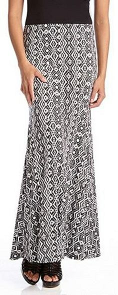 Gorgeous Black and White Super Slimming Diamond Print Maxi Skirt #black_and_white #maxi_skirt #fashion   Love the length.