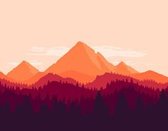"Check out new work on my @Behance portfolio: ""Mountain landscape"" http://on.be.net/1N8bGsi"