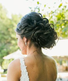 3966c11fc22 Curly updo with some height in the crown Crown Hairstyles
