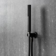 The Mare Handshower & Integrated Wall Union in Matte Black from Italian design house Fantini represents a new era in shower design. The long curved lines with a distinguishing soft body shape of the piece is designed to compliment the Mare Tapware Collect Shower Taps, Shower Fixtures, Bath Taps, Shower Rose, Bathroom Wall Cabinets, Black Shower, Modern Shower, White Rooms, Contemporary Bathrooms