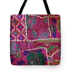 """Shopping Colorful Tapestry Sale India Rajasthan Jaipur Tote Bag 18"""" x 18"""""""