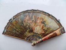 Hand Painted Antique Miniature Fan c1880