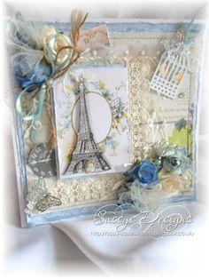 my Shabby chic parisian  card