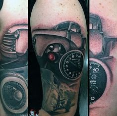 43 Best Classic Car Sleeve Tattoo Idea Images Arm Tattoo Arm