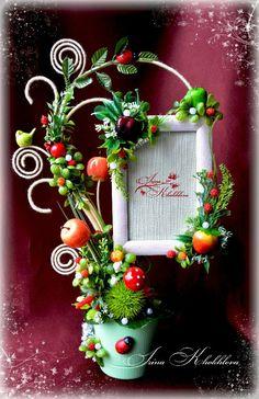 Как сделать топиарии. Подарки ручной работы Christmas Projects, Christmas Wreaths, Christmas Crafts, Christmas Decorations, Christmas Ornaments, Holiday Decor, Diy Flowers, Paper Flowers, Deco Floral