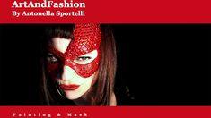 Maschera Rossa Diamond ArtAndFashion by Antonella Sportelli
