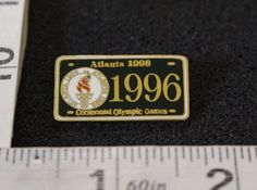 This pin is in great condition. Game Black, Olympic Games, Lapel Pins, Olympics, Atlanta, Plate, Ebay, Dishes, Plates