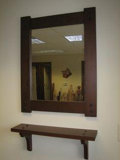 Mirror (frame) and matching shelf!
