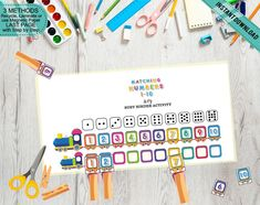 Train Locomotives Matching Number Game, Fine Motor Print Cut and Play Train Math, Busy Binder Activity, Learning Tool, Printable DIY Number Activities, Activities For Kids, Middle Childhood, Numbers For Kids, Preschool Printables, Learning Tools, Print And Cut, Fine Motor, Binder
