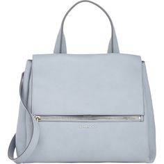 Givenchy Medium Pandora Flap Bag (€2.315) ❤ liked on Polyvore featuring bags, handbags, shoulder bags, purses, accessories, grey, givenchy handbags, grey handbags, grey purse and gray shoulder bag