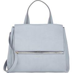 Givenchy Medium Pandora Flap Bag (€2.175) ❤ liked on Polyvore featuring bags, handbags, shoulder bags, purses, accessories, torbe, grey, givenchy handbags, givenchy and flap bag