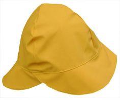 yellow rain hat Rain Jackets, Rainy Day Fashion, Rain Hat, Head Coverings, Sewing Accessories, Rainy Days, Sunnies, Seattle, Craft Ideas