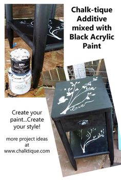Chalk-tique is a non-toxic powder additive for any latex and acrylic paint! Easy and affordable.