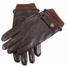 Dents Gloves - Brown Casual Leather Gloves by Dents-For JOnathan