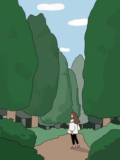 Cartoon Art Styles, Cute Art Styles, Kawaii Wallpaper, Cute Wallpaper Backgrounds, Cute Cartoon Wallpapers, Korean Art, Pretty Art, Cute Illustration, Art Sketchbook