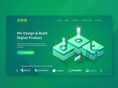 DOT Indonesia Website with Isometric Style