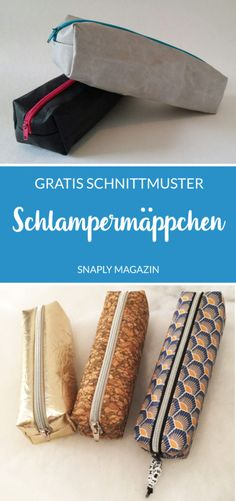 Sew on a simple pencil case made of SnapPap - free sewing pattern- Einfaches Schlampermäppchen aus SnapPap nähen – gratis Schnittmuster SnapPap Schlampermäppchen sew with this … - Sewing Hacks, Sewing Tutorials, Sewing Tips, Sewing Crafts, Sewing Patterns Free, Free Pattern, Sewing Projects For Beginners, Diy Projects, Tricot Simple