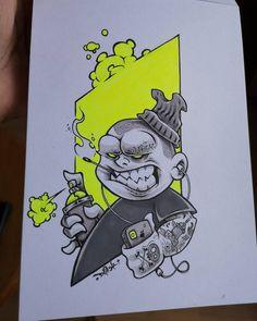 Graffiti Doodles, Graffiti Cartoons, Graffiti Characters, Graffiti Drawing, Graffiti Lettering, Street Art Graffiti, Badass Drawings, Dark Art Drawings, Drawing Cartoon Faces